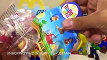 Content repas jouets déballage jouets super Марио хеппи мил макдональдс super mario mcdonalds