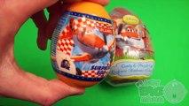 Et gros plus gros le plus grand peut peut des œufs Apprendre ouverture avions tailles jouets avec Disney surprise