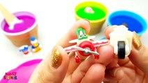 Learn colors w/ Slime Surprise Toys Kinder Surprise Eggs Paw Patrol Toys Spongebob Mickey