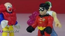 Batman CLONE Machine + Batman FIGHTS Himself! Joker Clones Himself HobbyKidsTV