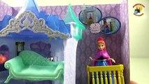 Et poupées gelé déballage et Anna Elsa poupée coeur froid déballer Anna Elsa