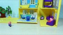 Dans le de dessin animé Peppa Pig George a lavé la machine à laver jouet pour chat