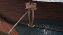Navire Port-Vendres 1 : la pompe de cale