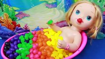 CANDY SURPRISE BATH Rainbow BABY ALIVE Bath Jelly Beans Candy Rainbow Learn Spelling Color