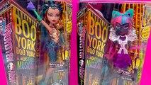 Monster High Boo York City Schemes Dolls Nefera de Nile and Catty Noir Cookieswirlc Video