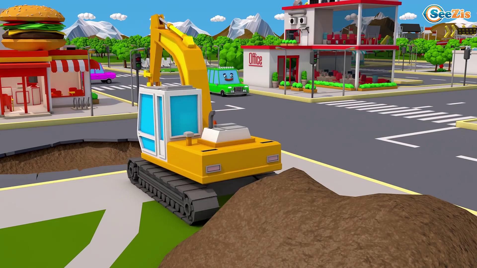 Super Truck and Monster Truck in Trucks City 3D Animation | Trucks Cartoon for kids Trucks Stories