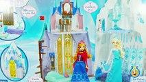 И Анна Барби Замок Эльза замороженный замороженные лед Кристофф Олаф Дворец Набор для игр Обзор Размер Вы Игрушки disn