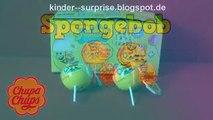 Balle des œufs Bob léponge déballage 2 chupa chups surprise animation surprise gentille surprise