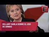 Hillary Clinton habla sobre el uso de armas / Tercer debate Hillary Clinton y Donald Trump