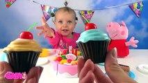 Anniversaire gâteau crème Coupe Coupe Anglais de la glace Apprendre des noms jouet jouets Pizza Velcro Pororo Fruits