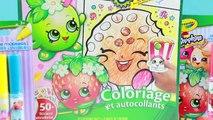 Livre par par coloration baiser marqueur partie examen fraise jouet déballage 2 boutique crayola thet