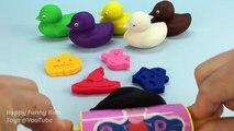 Et couleurs Canards pour amusement amusement enfants Apprendre moules jouer avec Doh halloween
