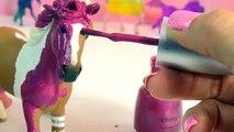Artisanat personnalisé hologramme cheval jument ongle peinture rose Polonais arc en ciel vidéo Schleich m
