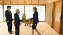 May meets Emperor Akihito on final day of Japan visit