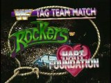 The Rockers vs Hart Foundation for Tag Team Titles  (1990.04.28 WWF)