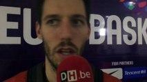 Réaction de Sam Van Rossom après la victoire belge face à la Grande-Bretagne