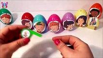 Des œufs jouets et 8 œufs surprise, jouets surprise amis apprendre les couleurs Caillou