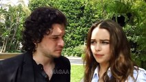Vidéos making of d'Emilia Clarke et Kit Harington sur les tournages de Game of Thrones