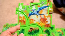 Floor Puzzle Dinosaurs Play Puzzles Assembling FUN TOYS!