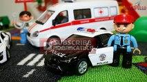 Voiture des voitures feu pour les tout-petits les trains un camion camions Transport dambulance de police de casse-tête f