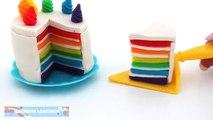 Un et un à un un à gâteau Créatif bricolage pour Comment enfants faire faire pâte à modeler arc en ciel niveaux à Il Arc-en-ciel
