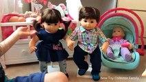 Americano bebé por colector de muñecas chica Nuevo cuatrillizos juguete gemelos Unboxing bitty bitty f