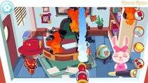 Les dessins animés enfants sapin feu pompier pour enfants camions camion de pompier
