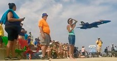 """Blue Angels """"Sneak Pass"""" Scares The Crap Out of Spectators"""