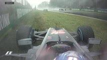 Grand Prix d'Italie - Romain Grosjean sort de la piste !