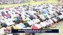 Mga kababayang Muslim sa Marawi City, nagdiwang ng Eid'l Adha