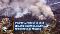 En Californie, des automobilistes se retrouvent tout près des flammes