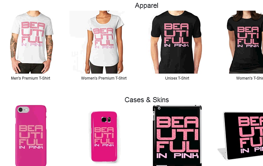 Beautiful In Pink Merchandise Collection