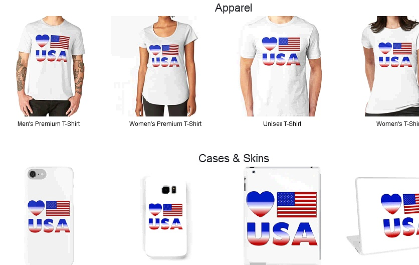 Love USA Merchandise Collection