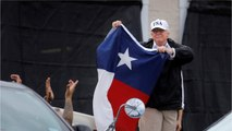 Trump greeted warmly by storm victims at Houston relief center