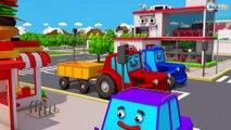 Video para Criançinhas - Сaminhão e Tratores - Escavadeira e Escavadora - Desenho Animado