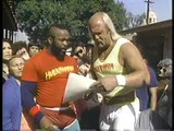 HULK HOGAN AND MR. T - WRESTLEMANIA I - 30 SECOND SPOT AND L.A. WORKOUT - WWE WWF Wrestling - Sports MMA Mixed Martial Arts Entertainment