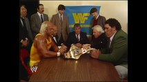 HULK HOGAN AND ANDRE THE GIANT - SIGN CONTRACT (WRESTLEMANIA III) - WWE WWF Wrestling - Sports MMA Mixed Martial Arts Entertainment