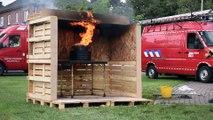 Philippeville: portes ouvertes chez les pompiers, le feu de friteuse
