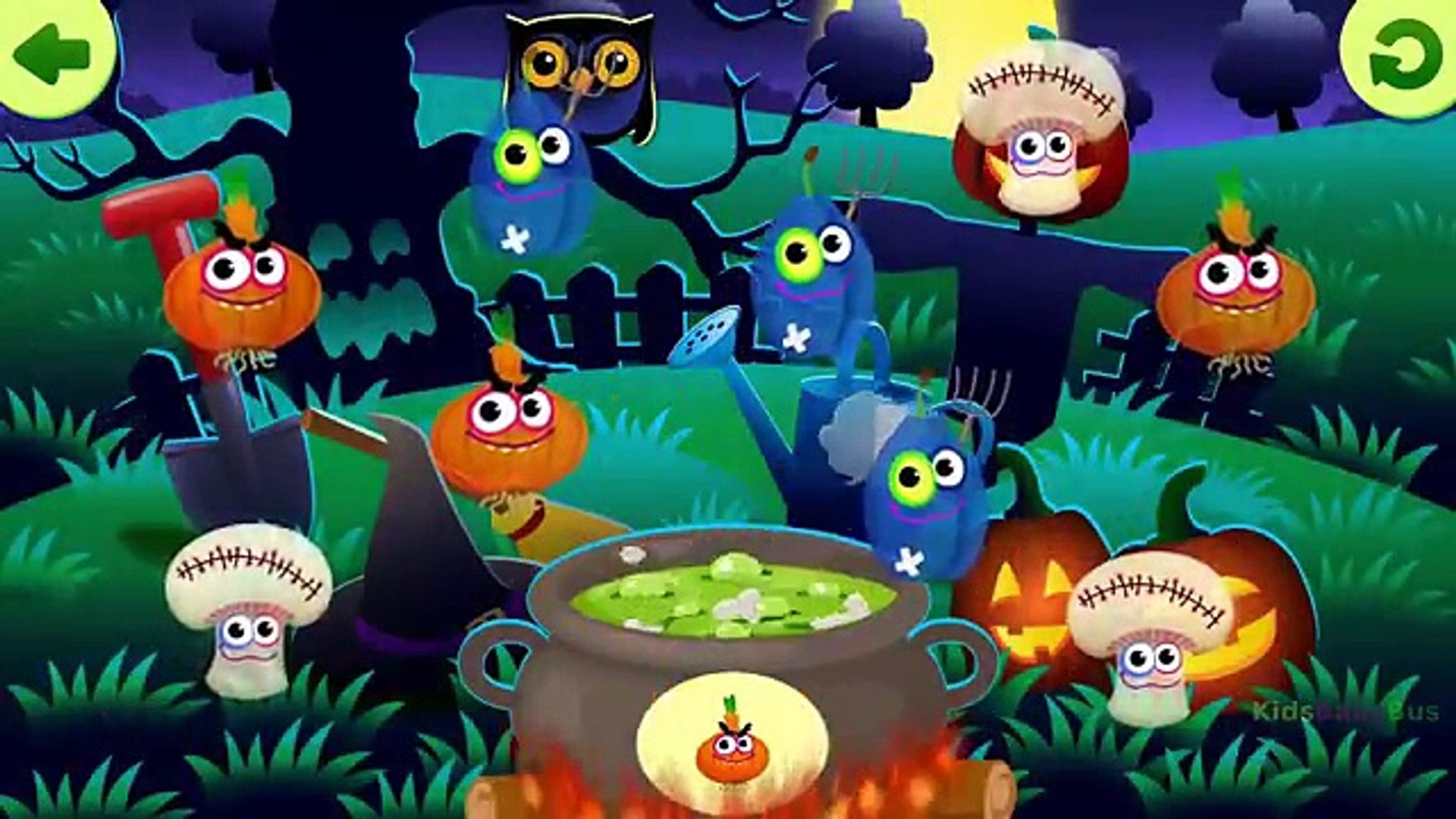 Kids Learn Autumn Foods and Fruits Names with Funny Foods: Halloween fun! - Kids Education