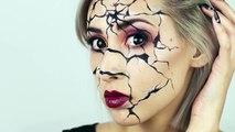 Pitre fissuré visage maquillage tutoriel Halloween