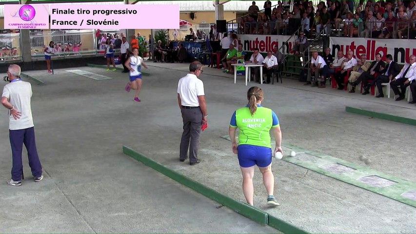 Finale tir progressif, Euro Féminin, Saluzzo 2017