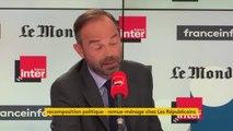 """Edouard Philippe : """"À l'Assemblée, il y a sur ma gauche des oppositions et sur ma droite le principal groupe d'opposition"""""""