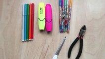 Bricolage faire pour Comment faire faire à Il pour comme faire des crayons à écrire ✎ ✎ poupées avec leurs propres crayons mains