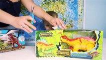 Video Niños para dinosaurio dinosaurios huevos juguetes toda la serie de los niños consecutivos sobre los dinosaurios