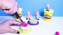Anniversaire gâteau bricolage fête coup dœil porc jouer Doh Peppa n surprise Playdough disney coll