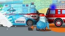 Voitures - Dessin animé. Véhicules d'assistance. Le Camion de pompier. Vidéo éducative pour enfants