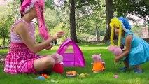 Escroquerie avec porc et george Peppa faire du camping vidéos caravane jouets Peppa