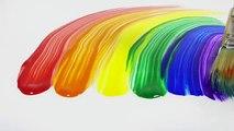 Apprendre les couleurs avec éclat peindre couleurs Apprendre à épeler arc en ciel pour enfants