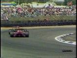 Gran Premio di Gran Bretagna 1990: Sorpasso di Prost a Boutsen, pit stop di A. Senna e Patrese e ritiro di Nannini