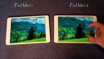 Pantalla con Ipad mini contra mini ipad de la retina ipad mini 1 contra ipad mini 2